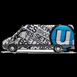 Lettrage de véhicules et de camionnette à Charleroi