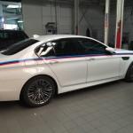 Lettrage d'une voiture BMW à Charleroi