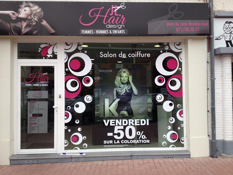 Salon de coiffure jl hair design ch telet flyers for Salon de the chatelet